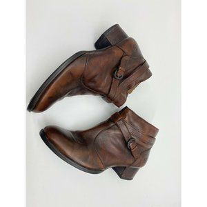 Born Leather Brown Booties EUC Size US 8